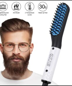Beard Hair Straightner Hair Style For Man.