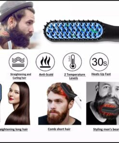 Beard Hair Straightner Hair Style For Man..
