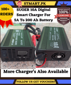 Suoer Charger 10 Ampere Digital
