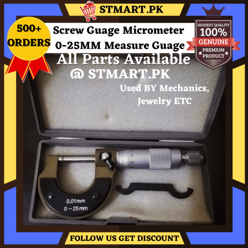 Micrometer Screw Guage Micro-Meter Caliper 0.25MM Measure Equipment External Metric Guage With Stainless Steel Plate For Measurement Tool Guage..