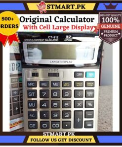 Original Calculator Large Display LCD Display For Maths Office Work Study Students Professional Calculator Big With Cell Solar Powered,