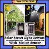 Original Solar Street Light With Battery Power Bank Solar Powered With Led Light Motion Sensor For Street Gate Pool Light Lawn Outdoor Flood Light 30W Cast Light Cob
