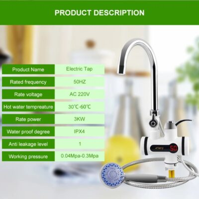 Water Heater Tap Geyser Tab With Shower Hot Water Tap Price in Pakistan.,