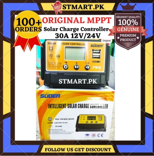 Suoer Controller 30A 12V Charge Controller Original Digital Price in Pakistan